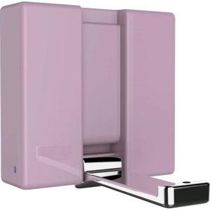 Růžový nástěnný skládací háček Wenko Basic ALPHA