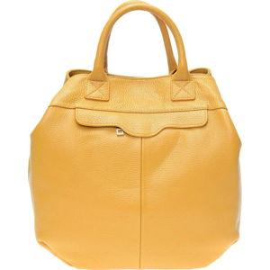 Žlutá kožená kabelka Isabella Rhea