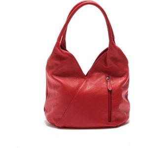 Tmavě červená kožená kabelka Roberta M Alonza