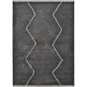Černý koberec Universal Kasbah Sharp, 80 x 150 cm
