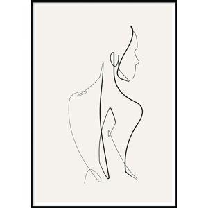 Nástěnný plakát v rámu SKETCHLINE/NAKED, 50x70cm
