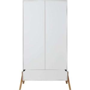Bílá dvoudveřová šatní skříň BELLAMY Lotta