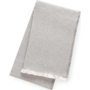 Světle šedý pléd s podílem bavlny Euromant Linen, 140 x 180 cm