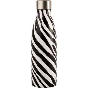 Černo-bílá lahev z nerezové oceli Navigate Zebra, 0,5 l