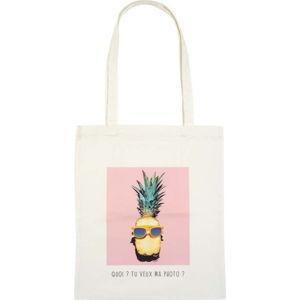 Bavlněná plátěná taška přes rameno LeStudio Tu Veux Ma Photo