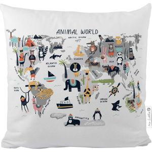 Povlak na polštář z bavlněného saténu Mr. Little Fox Animal World, 50x50cm