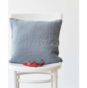 Světle modrý lněný povlak na polštář Linen Tales, 45 x 45 cm