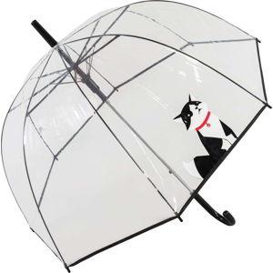Transparentní větruodolný holový deštník Ambiance Small Cat, ⌀84cm