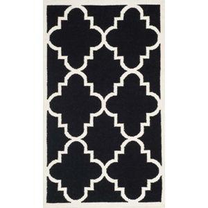Černý vlněný koberec Safavieh Alameda, 152 x 91 cm