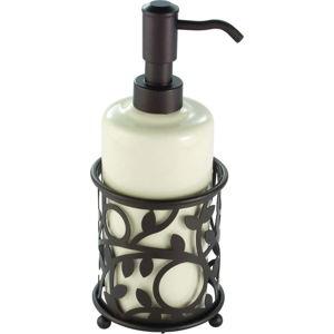 Dávkovač na mýdlo v bronzové barvě iDesign Vine, 384ml