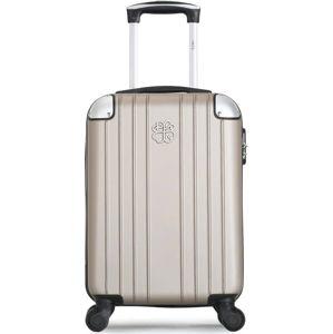 Béžové skořepinové zavazadlo na 4 kolečkách LPB Amelie, 31l