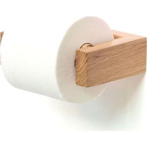 Nástěnný držák na toaletní papír z dubového dřeva Wireworks Mezza