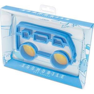Modrá formička na vajíčka ve tvaru autobusu Luckies of London Eggmobile
