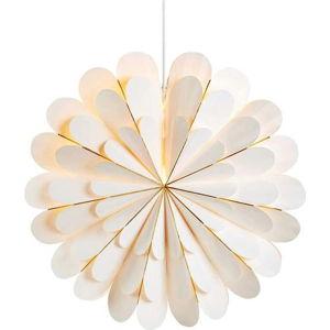 Bílá závěsná světelná dekorace Markslöjd Marigold,výška45cm