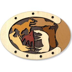 Dřevěná skládanka RecentToys Wild Horses