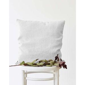 Bílý lněný povlak na polštář Linen Tales, 45 x 45 cm