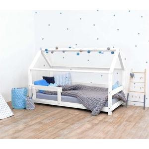Bílá dětská postel s bočnicí ze smrkového dřeva Benlemi Tery, 80 x 200 cm
