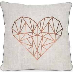 Béžový polštář Really Nice Things Heart,45x45cm