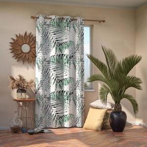 Závěs AmeliaHome Palmleaves Green, 140 x 245 cm