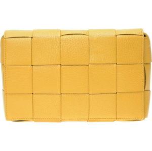 Žlutá kožená taška přes rameno Isabella Rhea