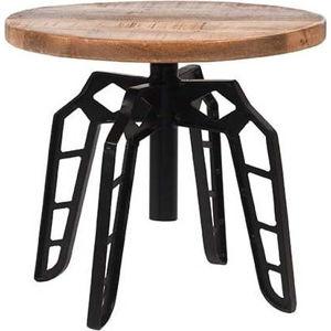 Odkládací stolek sdeskou zmangového dřeva LABEL51 Pebble, ⌀45cm