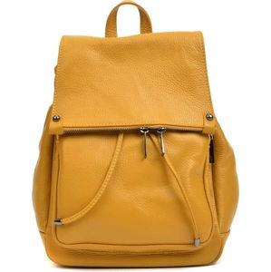 Žlutý kožený batoh Roberta M Aida