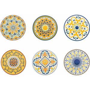 Sada 6 dekorativních talířů Villad'Este Sicilia