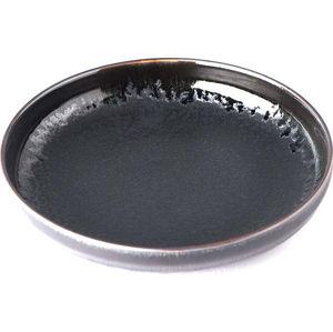 Černý keramický talíř se zvednutým okrajem MIJ Matt,ø22cm