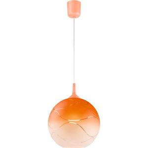 Oranžové kulaté závěsné svítidlo Lamkur Waves