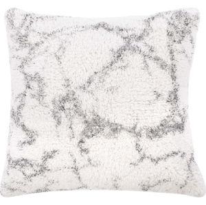 Bílo-šedý bavlněný dekorativní polštář Tiseco Home Studio Abstract,45x45cm