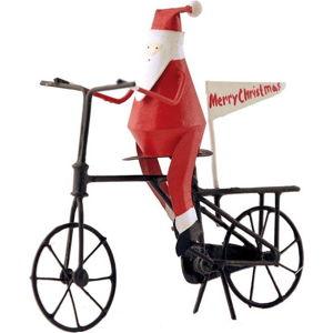 Vánoční dekorace G-Bork Santa on Bike