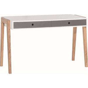 Bílo-šedý pracovní stůl Vox Concept