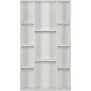 Bílá knihovna z borovicového dřeva WOOOD Flynn