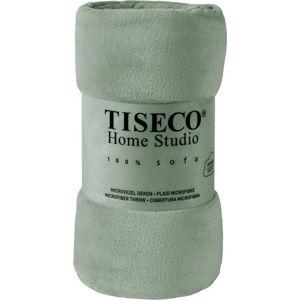 Zelená mikroplyšová deka Tiseco Home Studio,130x160cm