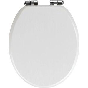 Bílé WC sedátko Wenko Wood
