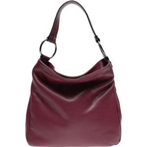 Vínově červená kožená kabelka Renata Corsi