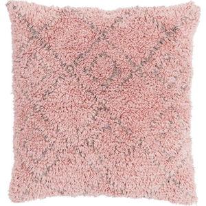 Růžový bavlněný polštář Ego Dekor Vintage Fluffy, 45 x 45 cm