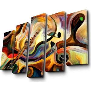 Vícedílný obraz Abstract Music, 105x70 cm