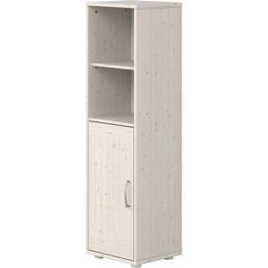 Bílá dětská skříňka z borovicového dřeva Flexa Classic, výška 133 cm