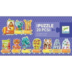 Dětské puzzle Djeco Trio Počtář