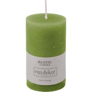 Zelená svíčka Baltic Candles Rustic, výška 10cm
