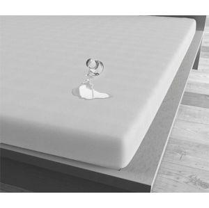 Bílé voděodolné prostěradlo Sleeptime, 160x200 cm