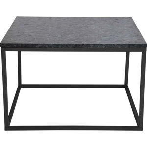 Černý žulový konferenční stolek s černým podnožím RGE Accent, šířka75cm