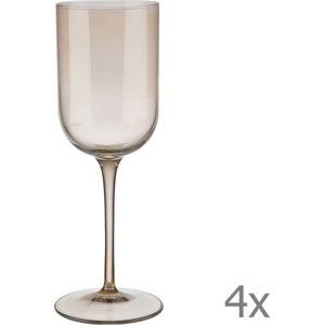 Sada 4 hnědých sklenic na bílé víno Blomus Mira, 280 ml