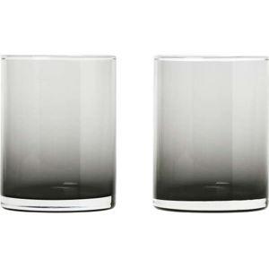 Sada 2 černých sklenic Blomus Mera, 220ml