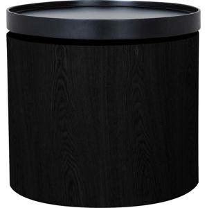 Černý odkládací stolek Canett Odnes