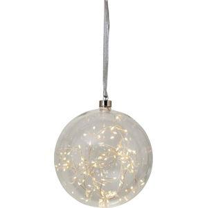 Transparentní LED světelná dekorace Best Season Glow, ø 20 cm