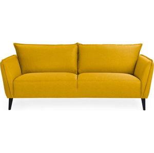 Žlutá trojmístná pohovka Softnord Malmo