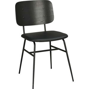 Černá jídelní židle s černým podsedákem Rowico Brent