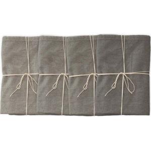 Sada 4 látkových ubrousků s příměsí lnu Linen Couture Grey, 43 x 43 cm